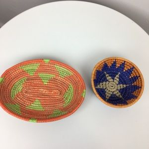 Colorful Handmade Mexican baskets